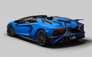 Blue Lamborghini Aventador high quality wallpaper