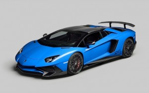Blue Lamborghini Aventador HD images download