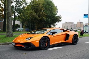 Orange Lamborghini Aventador HD