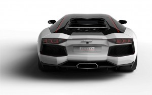 White Lamborghini Aventador for desktop