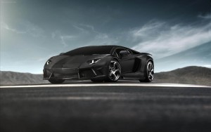 Black Lamborghini Aventador full HD wallpaper