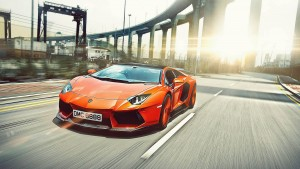 Orange Lamborghini Aventador 1080p images