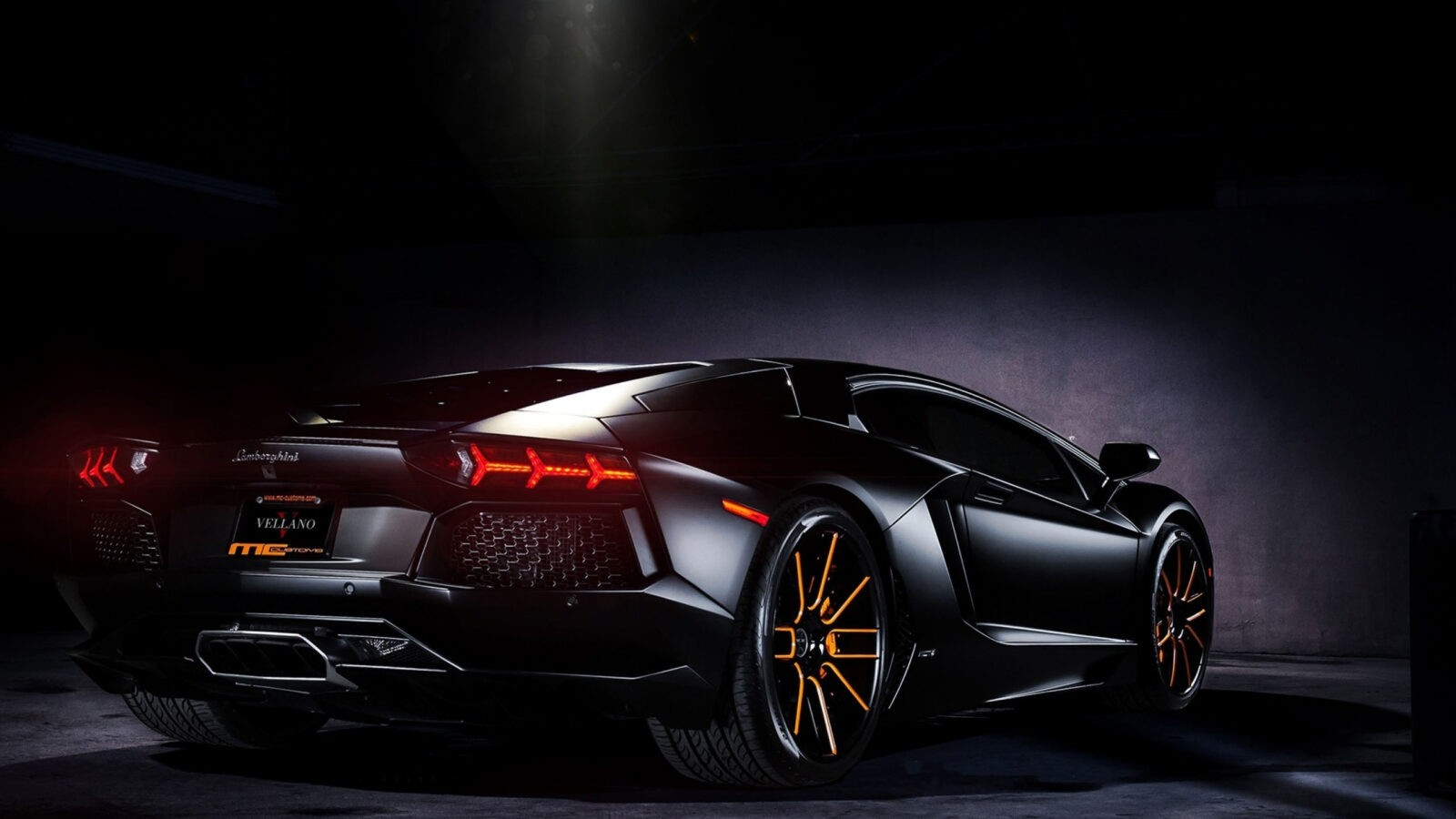 Lamborghini Aventador black HQ wallpaper