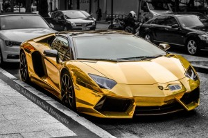 Golden Lamborghini Aventador for laptop