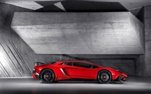 Red Lamborghini Aventador HD desktop