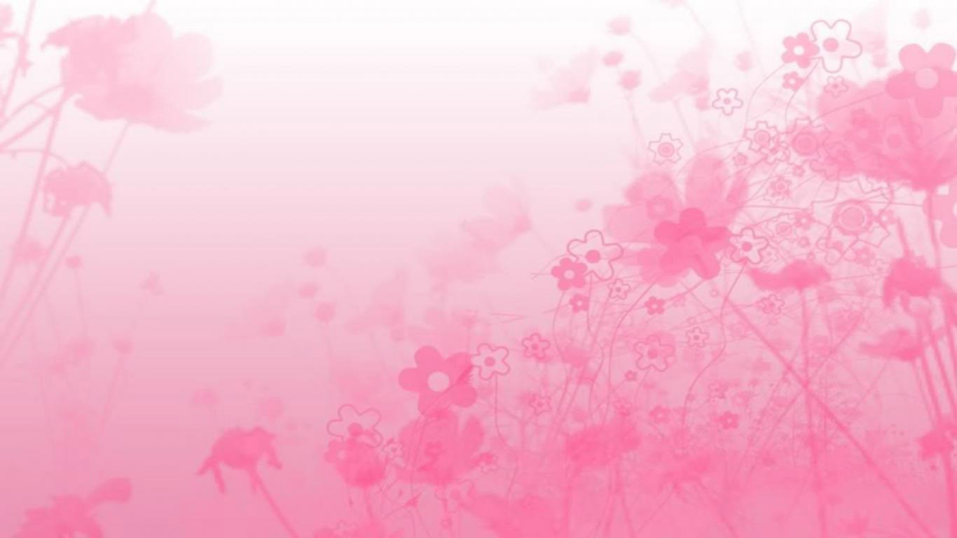 Simple pink flowers abstract image