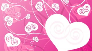 White heart vector pink abstract wallpaper