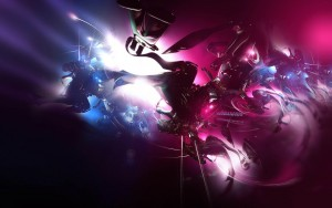Dark pink abstract HD