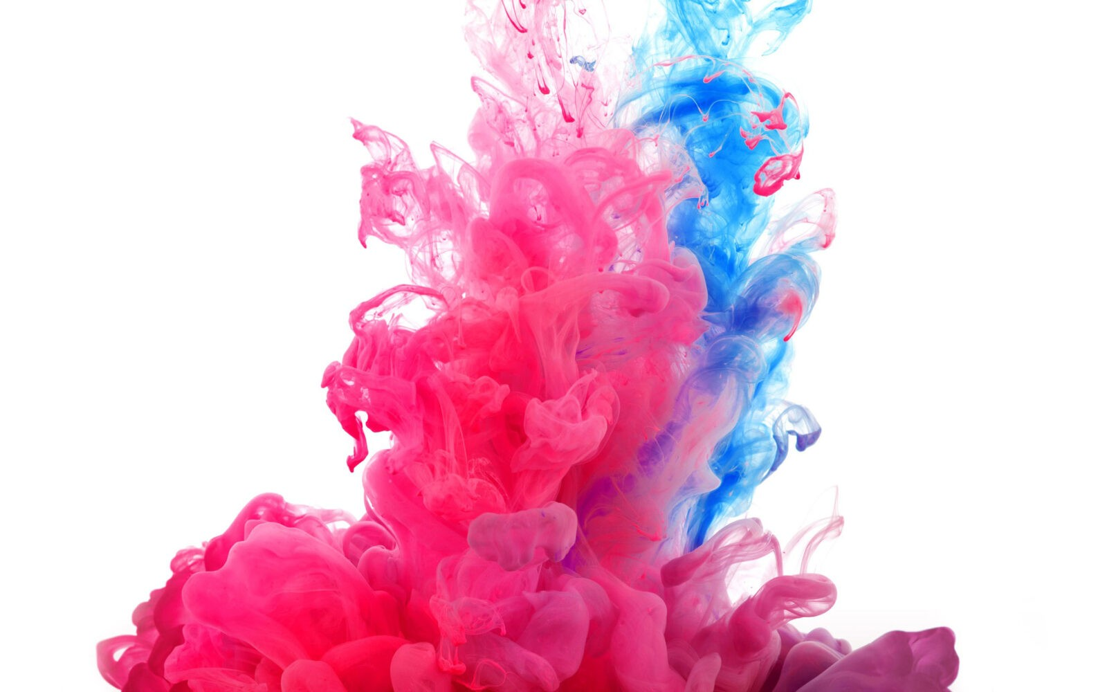 Pink and blue smoke abstract wallpaper