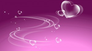HD picture pink abstract with heart on a light background