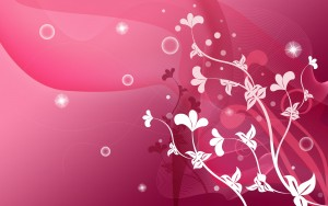 Picture pink abstract small flowers white color