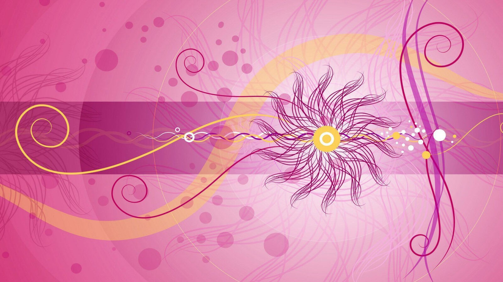 Extraordinary sun on the pink abstract background wallpaper