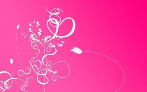 White curved abstract lines on the pink background for desktop