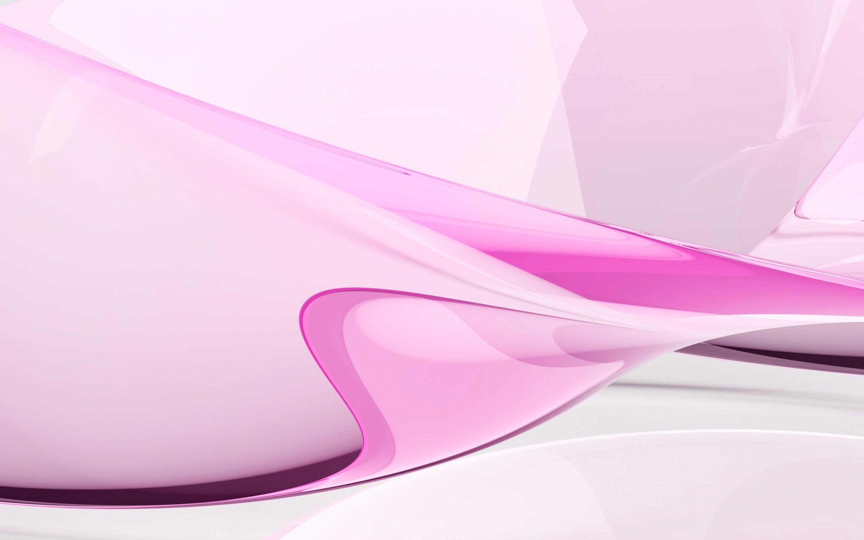 Curved lines pink abstract on light background