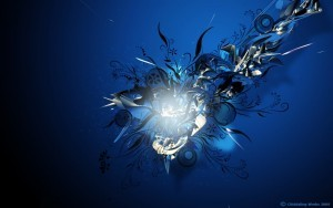 Blue abstract HD photo