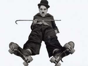 Charles Chaplin white background