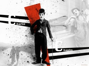 Charles Chaplin colors photo