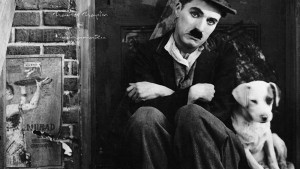 HD Image Charles Chaplin with dog