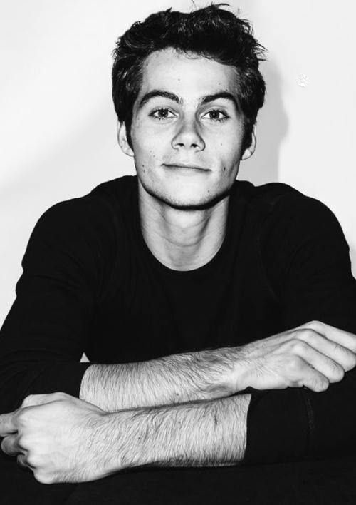 Dylan O'brien bw for iPhone and Android