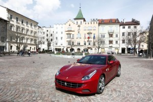 Red Ferrari FF old town image