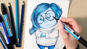 Inside Out Sadness drawing