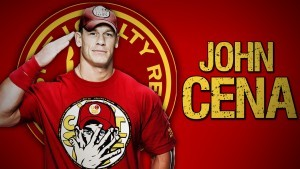 John Cena red background