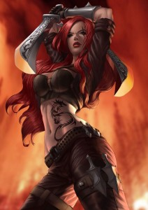 HD wallpapers of Katarina league of legends for iPhone