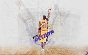 Photo Kobe Bryant is return