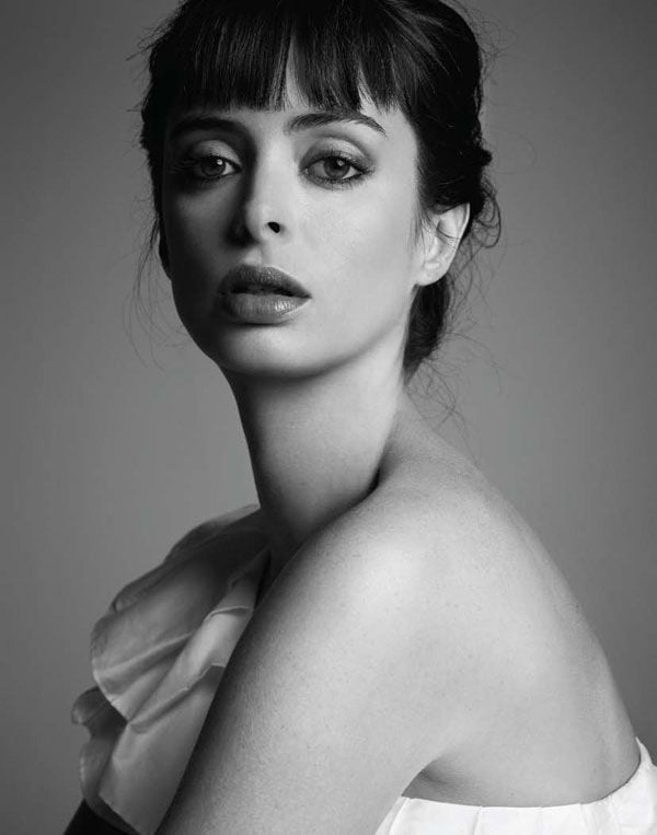 Pretty Krysten Ritter bw Android