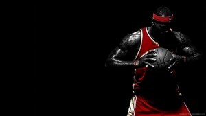 LeBron James black background