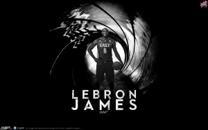 Dark background of LeBron James logotype