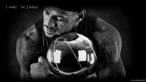 LeBron James bw
