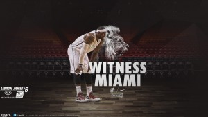 Pic of Lebron James witness miami