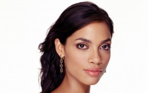 Wallpaper Rosario Dawson white background