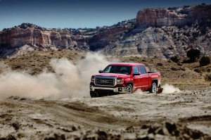 wallpaper of 2015 red GMC Sierra
