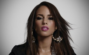 Alicia Keys earrings background