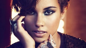 Alicia Keys face full HD image