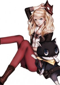 Full HD pics of Anne Takamaki with Morgana