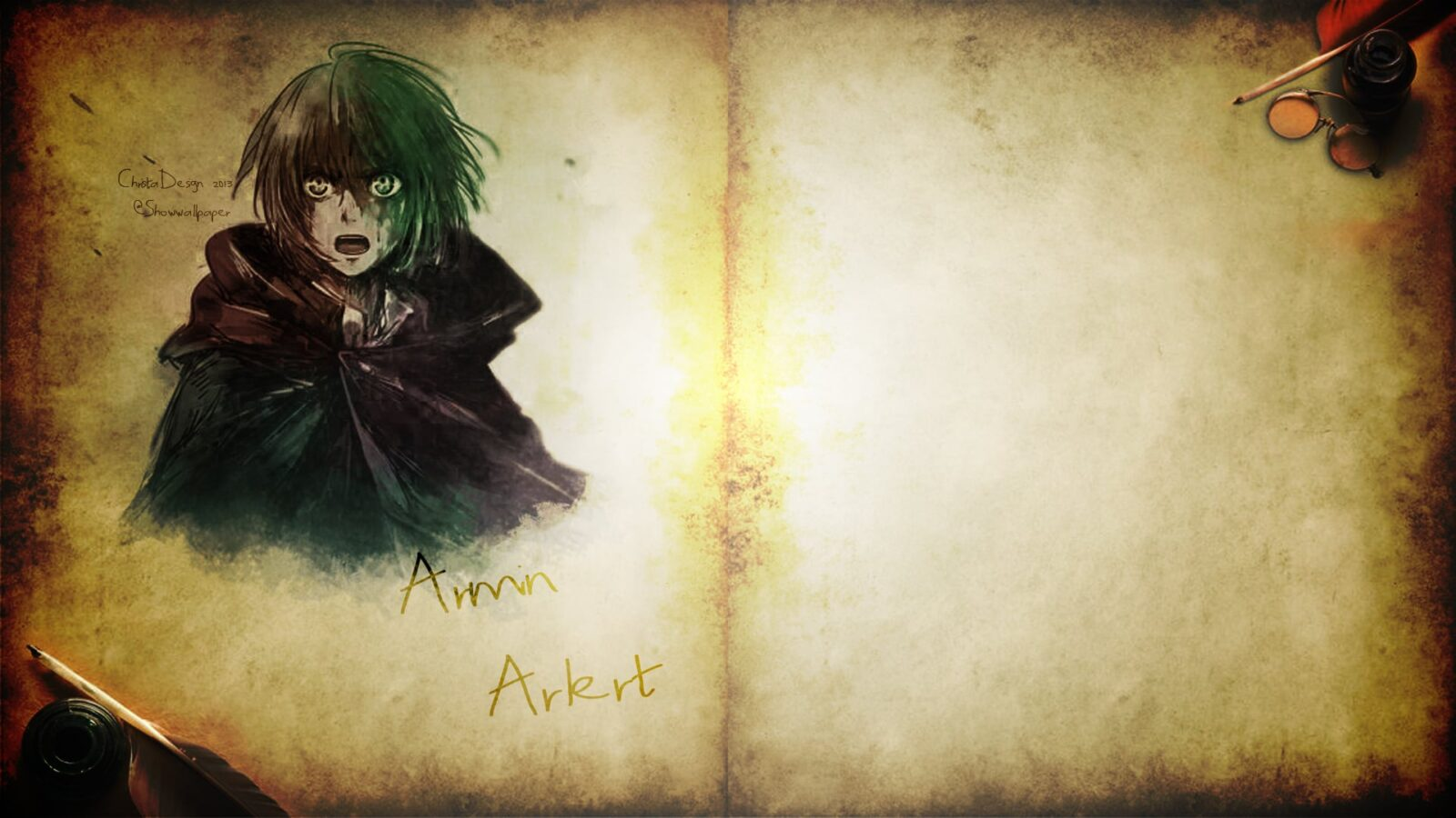 wallpaper of Armin Arlert Attack On Titan