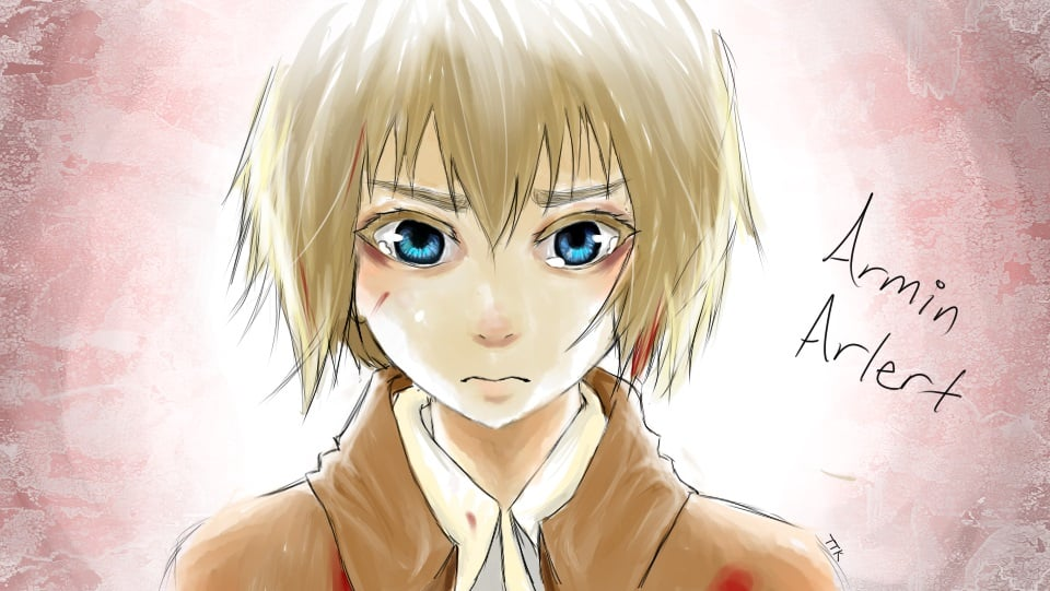 Armin Arlert Attack On Titan draw widescreen