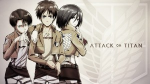Attack on Titan - Eren Levi Mikasa pictures
