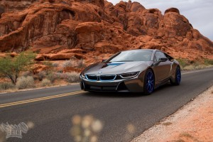 BMW i8 blue wheel High Resolution wallpaper
