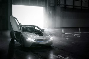 BMW i8 bw HD for desktop