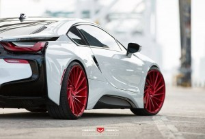 BMW i8 red wheel HD