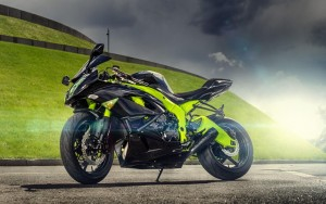 Black Kawasaki Ninja ZX 6R High Resolution wallpaper