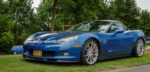 Blue Chevrolet Corvette C6 Z06 backgrounds