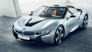 wallpaper of Silver BMW i8 spyder