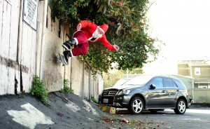 Christmas Santa Skateboarding pictures