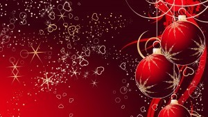 Cool Christmas red background photo
