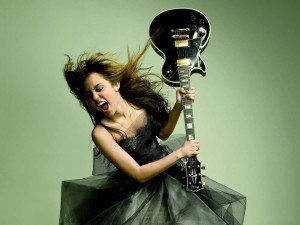 Crazy Miley Cyrus with guitar HD for desktop